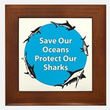 Save Our Oceans. Protect Our  Framed Tile