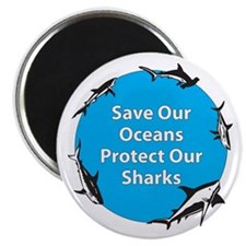 "Save Our Oceans. Protect Our 2.25"" Magnet (10 pac"