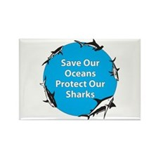 Save Our Oceans. Protect Our Rectangle Magnet (10