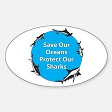 Save Our Oceans. Protect Our Oval Decal