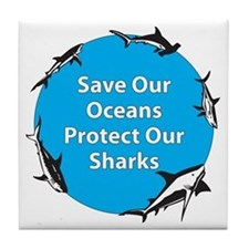 Save Our Oceans. Protect Our  Tile Coaster