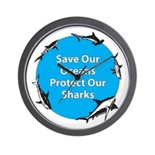 Save Our Oceans. Protect Our  Wall Clock
