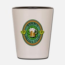 CUSTOM Irish Pub Sign Shot Glass