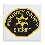 Monterey County Sheriff Tile Coaster