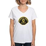 Monterey County Sheriff Women's V-Neck T-Shirt
