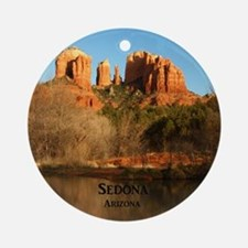 Sedona_11.5x11.5_CathedralRock Round Ornament