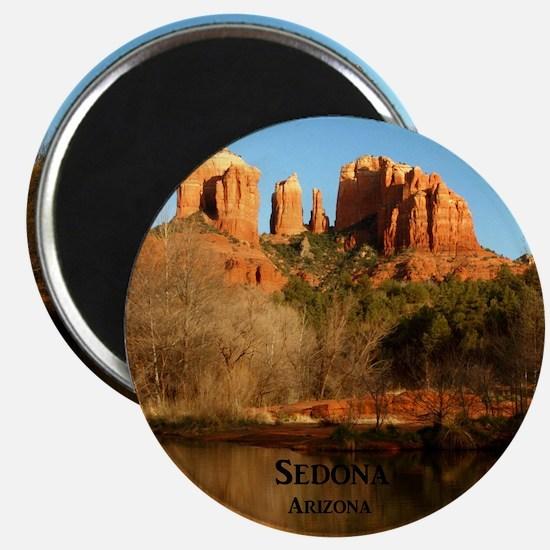 Sedona_11.5x11.5_CathedralRock Magnet