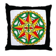 Rain, Sun Fertility Hex Throw Pillow