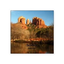 "Sedona_11.5x11.5_CathedralR Square Sticker 3"" x 3"""