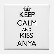 Keep Calm and kiss Anya Tile Coaster