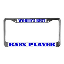 Bass Player License Plate Frame