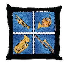 BQ Blue - Throw Pillow