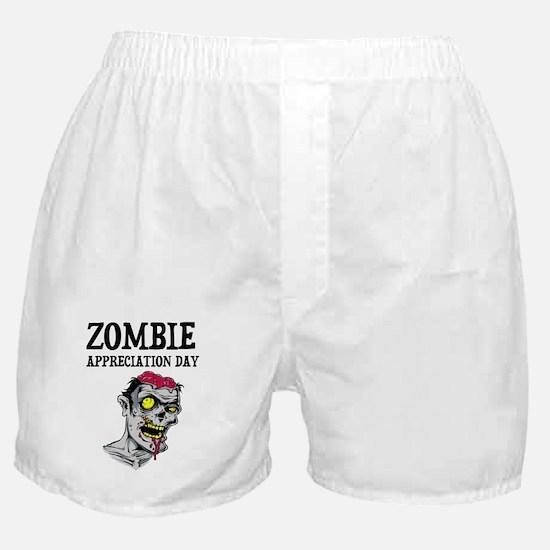 Zombie Appreciation Day Boxer Shorts