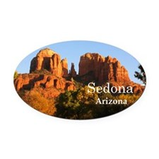 Sedona_12.2x6.64_CathedralRock Oval Car Magnet