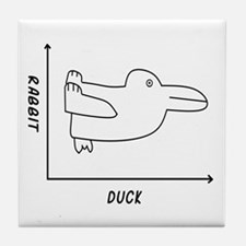 Duck/Rabbit Tile Coaster
