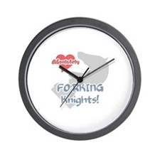 Absolutely Love Forking Knigh Wall Clock