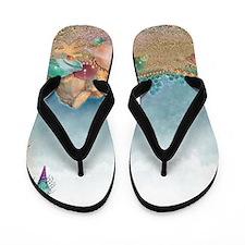 Beach sparkles with seashells Flip Flops