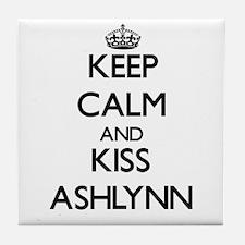 Keep Calm and kiss Ashlynn Tile Coaster