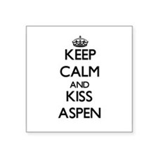 Keep Calm and kiss Aspen Sticker