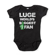 Luge Worlds Biggest Fan Baby Bodysuit