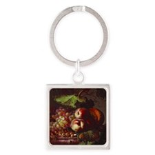 Bowl of Fruit Square Keychain