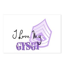 I love my GYSgt Postcards (Package of 8)