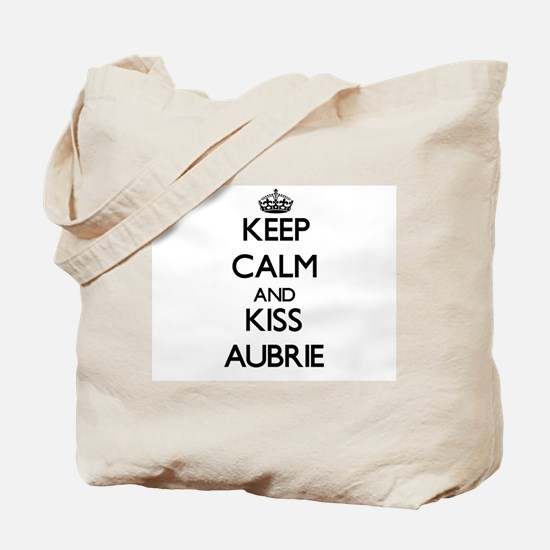 Keep Calm and kiss Aubrie Tote Bag