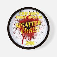 Splatter Con!!! Dark Wall Clock