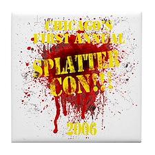Splatter Con!!! Dark Tile Coaster