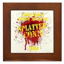 Splatter Con!!! Dark Framed Tile