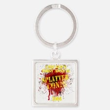Splatter Con!!! Dark Square Keychain