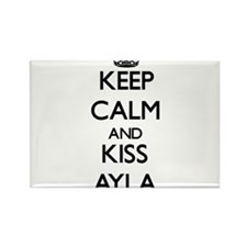 Keep Calm and kiss Ayla Magnets
