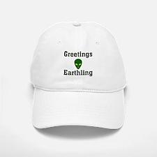 Greetings Earthling Baseball Baseball Cap