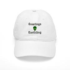 Greetings Earthling Baseball Cap