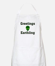 Greetings Earthling BBQ Apron
