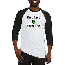 Greetings Earthling Baseball Jersey