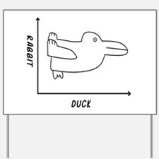 Duck/Rabbit Yard Sign