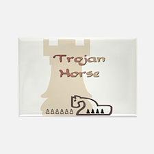 Trojan Horse Chess Rectangle Magnet