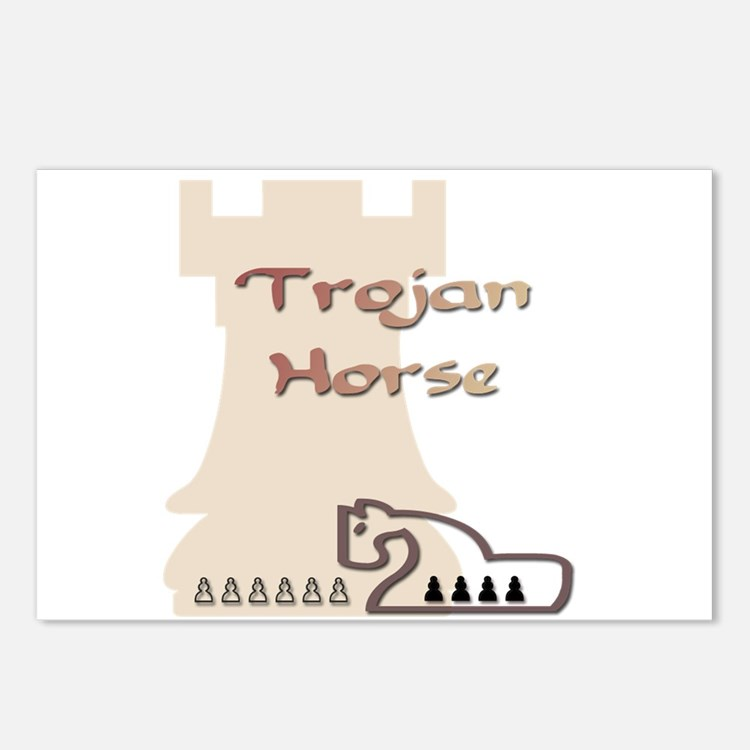 Trojan Horse Chess Postcards (Package of 8)