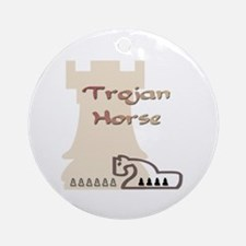 Trojan Horse Chess Ornament (Round)