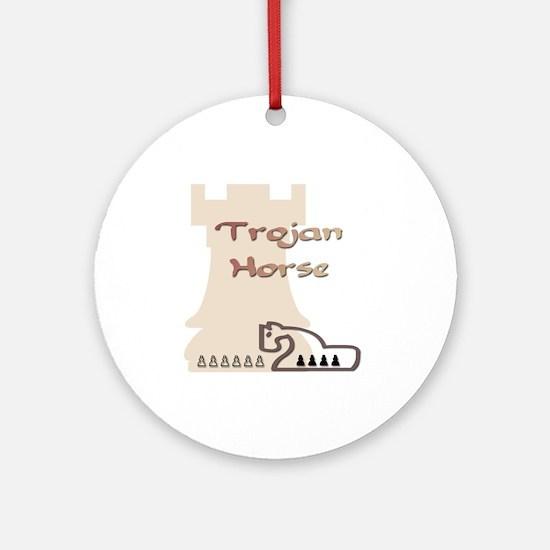 Trojan Horse Chess Ornament (Round)