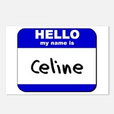 hello my name is celine  Postcards (Package of 8)