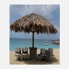 St. Martin Beach 3 Throw Blanket