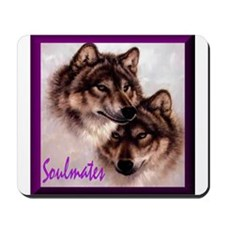 Wolf Soulmates Mousepad