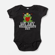 Valentine Frog Baby Bodysuit