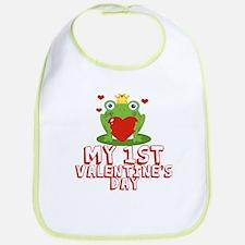 Valentine Frog Bib