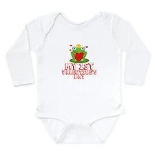 Valentine Frog Long Sleeve Infant Bodysuit