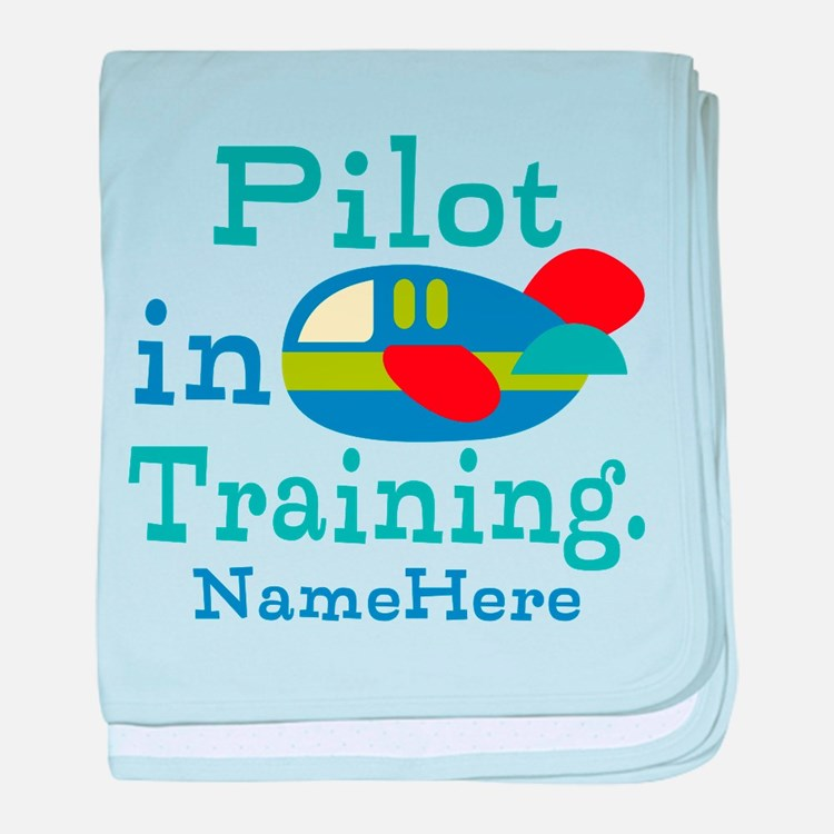 Personalized Pilot in Training baby blanket