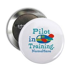 """Personalized Pilot in Training 2.25"""" Button (100 p"""