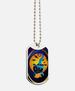 Blue Witch Kitty -Harvest Moon Dog Tags